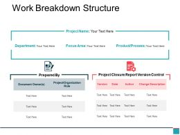 Work Breakdown Structure Powerpoint Slide Presentation Guidelines