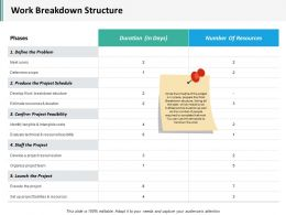 Work Breakdown Structure Ppt Inspiration Examples