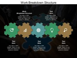 Work Breakdown Structure Ppt Powerpoint Presentation Gallery Deck Cpb