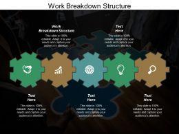 Work Breakdown Structure Ppt Powerpoint Presentation Gallery Deck Cpb