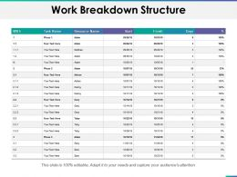 Work Breakdown Structure Ppt Summary File Formats