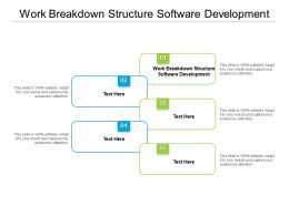 Work Breakdown Structure Software Development Ppt Infographic Template Slides Cpb