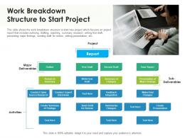 Work Breakdown Structure To Start Project