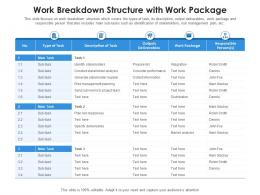 Work Breakdown Structure With Work Package