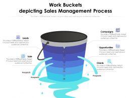 Work Buckets Depicting Sales Management Process