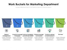 Work Buckets For Marketing Department
