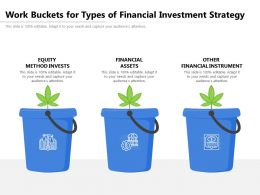 Work Buckets For Types Of Financial Investment Strategy