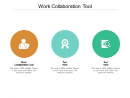 Work Collaboration Tool Ppt Powerpoint Presentation Slides Deck Cpb