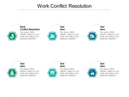 Work Conflict Resolution Ppt Powerpoint Presentation Pictures Graphics Tutorials Cpb
