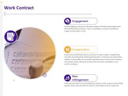 Work Contract Compensation Ppt Powerpoint Presentation Slides Shapes