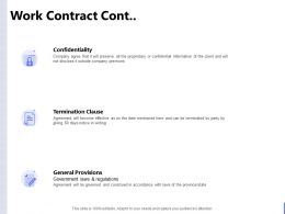 Work Contract Cont Confidentiality Ppt Powerpoint Presentation Gallery Microsoft