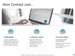 Work Contract Cont Confidentiality Technology Ppt Powerpoint Presentation Infographic
