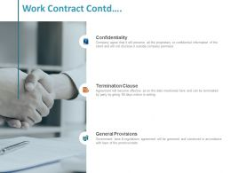 Work Contract Contd General Provisions Ppt Powerpoint Presentation Inspiration Gallery