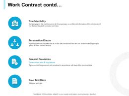 Work Contract Contd Ppt Powerpoint Presentation Gallery Model