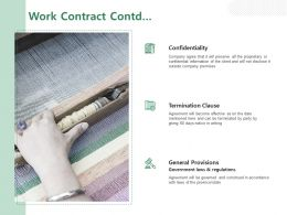 Work Contract Contd Ppt Powerpoint Presentation Layouts Format Ideas