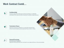 Work Contract Contd Ppt Powerpoint Presentation Layouts Shapes
