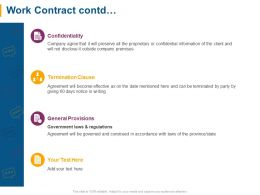 Work Contract Contd Termination Clause Ppt Powerpoint Presentation File Brochure
