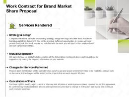 Work Contract For Brand Market Share Proposal Ppt Powerpoint Presentation Good