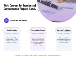 Work Contract For Branding And Communication Proposal Contd Ppt Layouts
