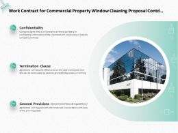 Work Contract For Commercial Property Window Cleaning Proposal Contd Ppt Slides