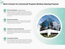 Work Contract For Commercial Property Window Cleaning Proposal Ppt Powerpoint Presentation