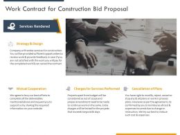 Work Contract For Construction Bid Proposal Ppt Powerpoint Presentation Pictures Brochure