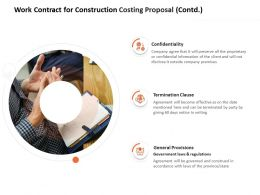 Work Contract For Construction Costing Proposal Contd L1491 Ppt Professional Templates