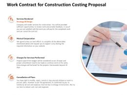 Work Contract For Construction Costing Proposal Ppt Powerpoint Presentation File Portfolio