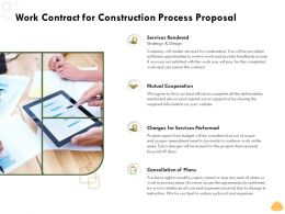 Work Contract For Construction Process Proposal Ppt Powerpoint Presentation Themes