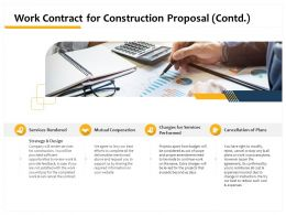 Work Contract For Construction Proposal Contd L1503 Ppt Powerpoint Presentation Design
