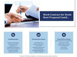 Work Contract For Event Host Proposal Contd Ppt Powerpoint Presentation Slides