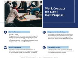 Work Contract For Event Host Proposal Ppt Powerpoint Presentation File Graphic