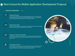 Work Contract For Mobile Application Development Proposal Ppt Clipart