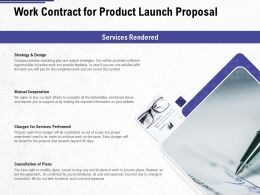 Work Contract For Product Launch Proposal Ppt Powerpoint Presentation Summary Format