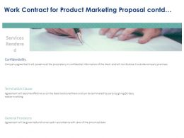 Work Contract For Product Marketing Proposal Contd Ppt Powerpoint Presentation File