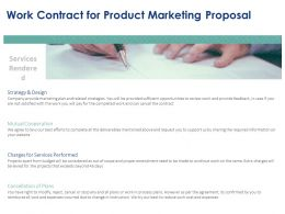 Work Contract For Product Marketing Proposal Ppt Powerpoint Presentation Templates