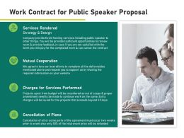 Work Contract For Public Speaker Proposal Ppt Powerpoint Presentation Styles Slideshow