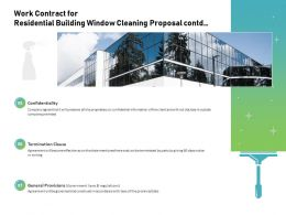 Work Contract For Residential Building Window Cleaning Proposal Contd Ppt Slide