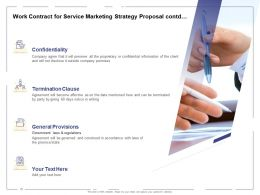 Work Contract For Service Marketing Strategy Proposal Contd Ppt Powerpoint Presentation Professional Slides