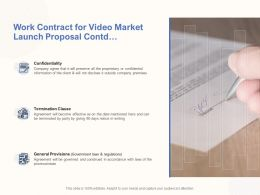 Work Contract For Video Market Launch Proposal Contd Ppt Powerpoint Ideas