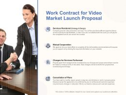 Work Contract For Video Market Launch Proposal Ppt Powerpoint Idea Guideline