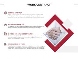 Work Contract Services Performed Ppt Powerpoint Presentation Display