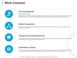 Work Contract Services Performed Ppt Powerpoint Presentation Layouts Samples