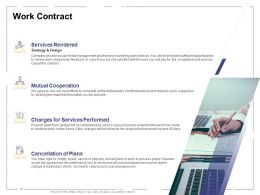 Work Contract Services Performed Ppt Powerpoint Presentation Professional Design Ideas