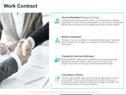 Work Contract Services Performed Ppt Powerpoint Presentation Styles Introduction