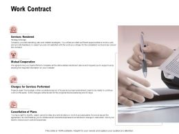 Work Contract Services Performed Ppt Powerpoint Presentation Summary Show