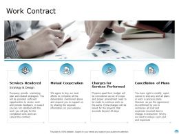 Work Contract Services Rendered Business Ppt Powerpoint Presentation Portfolio Diagrams
