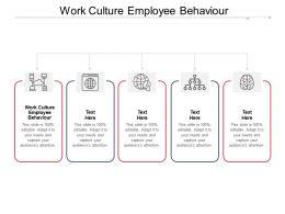 Work Culture Employee Behaviour Ppt Powerpoint Presentation Layouts Smartart Cpb
