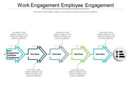 Work Engagement Employee Engagement Ppt Powerpoint Presentation Layouts Designs Download Cpb
