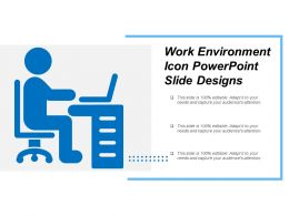 Work Environment Icon Powerpoint Slide Designs